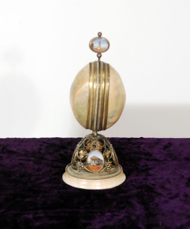 An Unusual Grand Tour Mother of Pearl Perfume Bottle Holder at 1stdibs