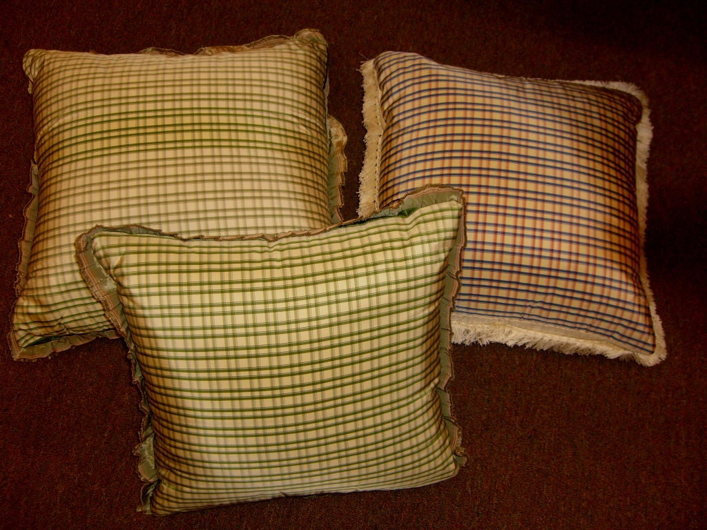 3 beautifully hand painted down filled silk pillows at 1stdibs for Hand painted pillows