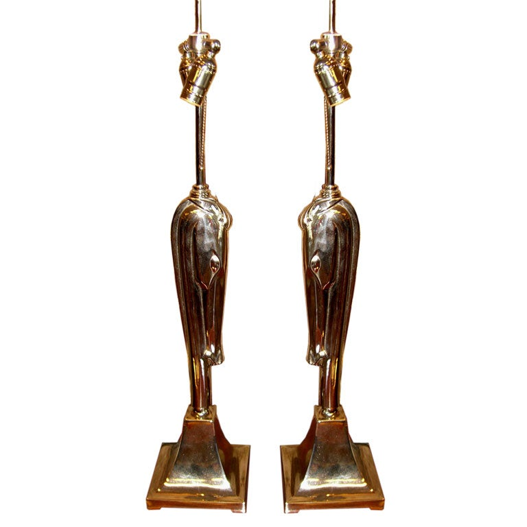 Colonial Premier cubist lamps designed by Viktor Schreckengost at ...