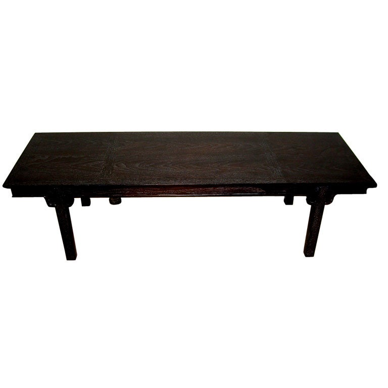 Asian Inspired Henredon Limed Oak Coffee Table At 1stdibs