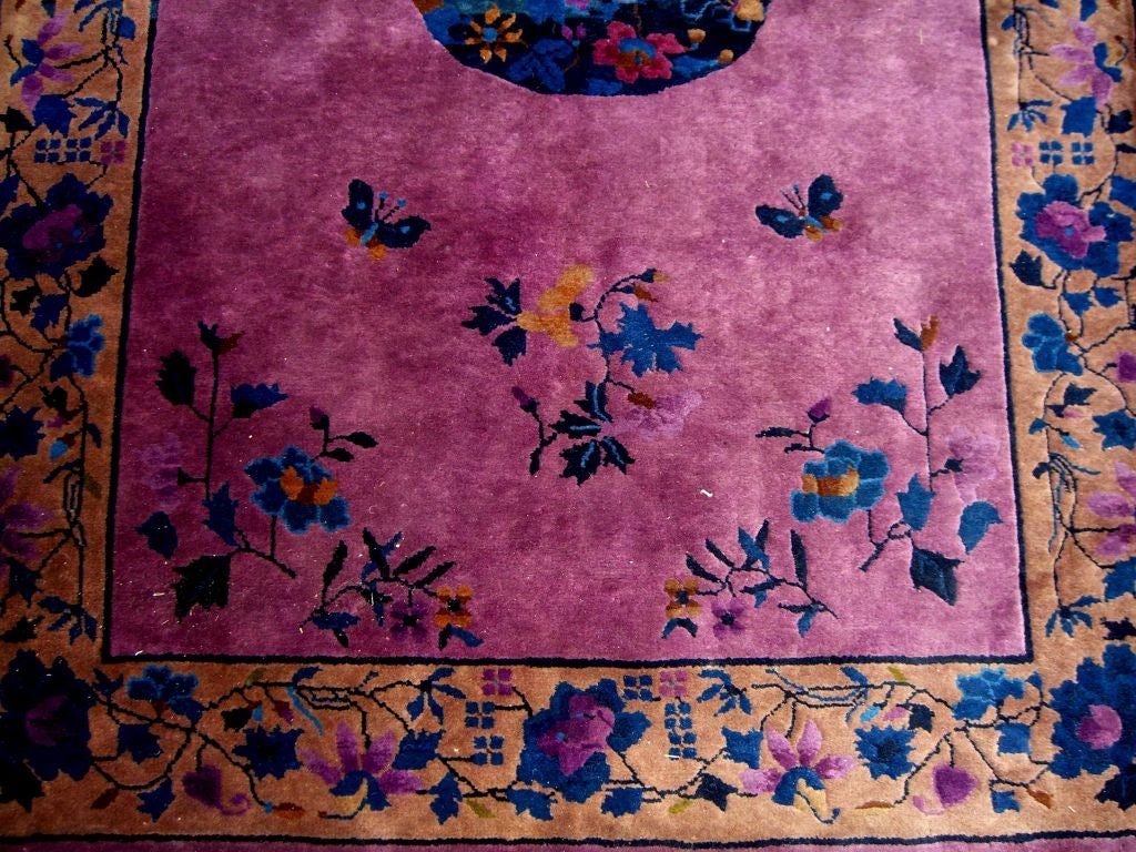 Walter Nichols Art Deco Chinese Rug In Good Condition At