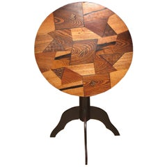 Tilt-Top Japanese Table with Mixed Woods