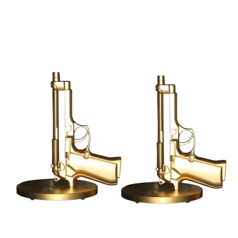 Pair of Gun Lamps by Philippe Starck at 1stdibs