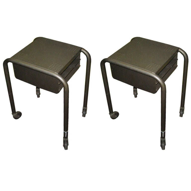 Pair of Machine Age Side Tables