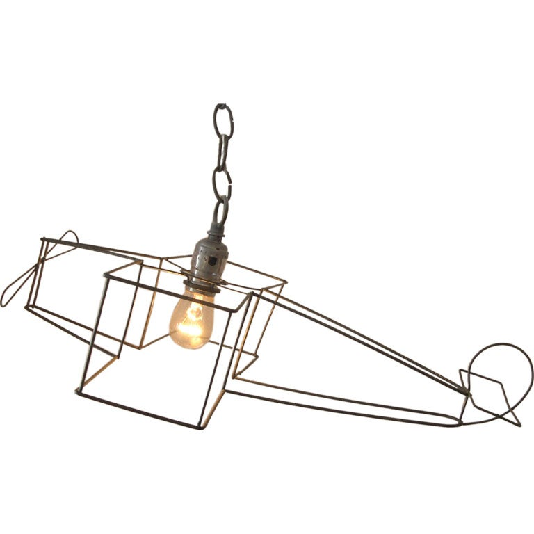 Hanging Airplane Light Fixture At 1stdibs