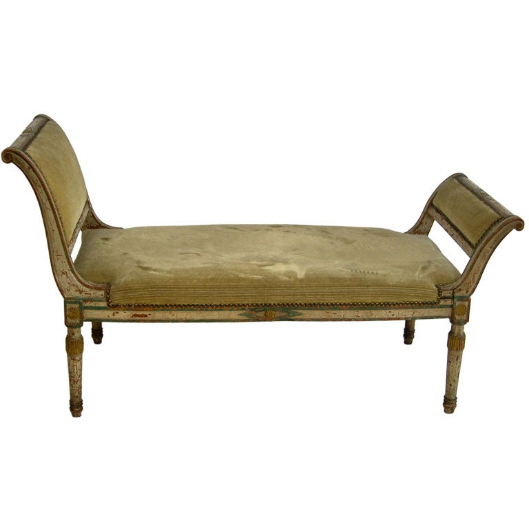 directoire period diminutive recamier chaise longue at 1stdibs. Black Bedroom Furniture Sets. Home Design Ideas
