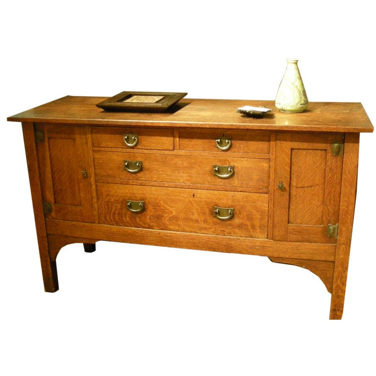 Stickley brothers 39 quaint furniture company 39 sideboard in oak for Furniture companies