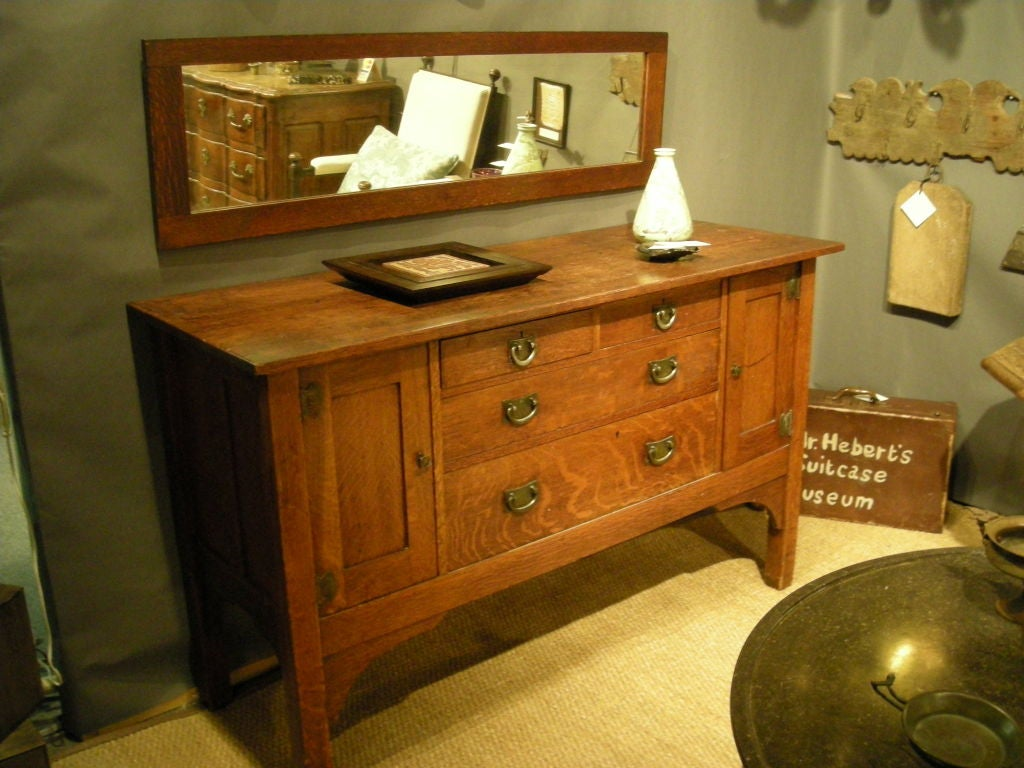 STICKLEY BROTHERS 'QUAINT FURNITURE COMPANY' SIDEBOARD IN OAK image 2