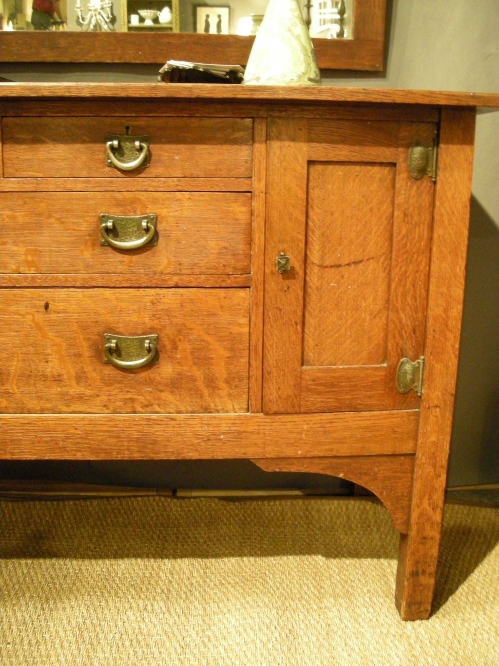 STICKLEY BROTHERS 'QUAINT FURNITURE COMPANY' SIDEBOARD IN OAK image 3