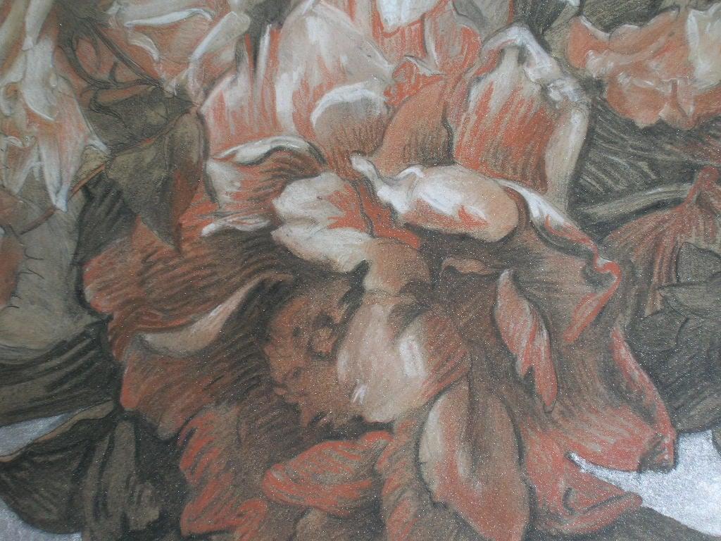 Guirlande de fleurs by marcelle krier lambrette at 1stdibs - Guirlandes de fleurs ...