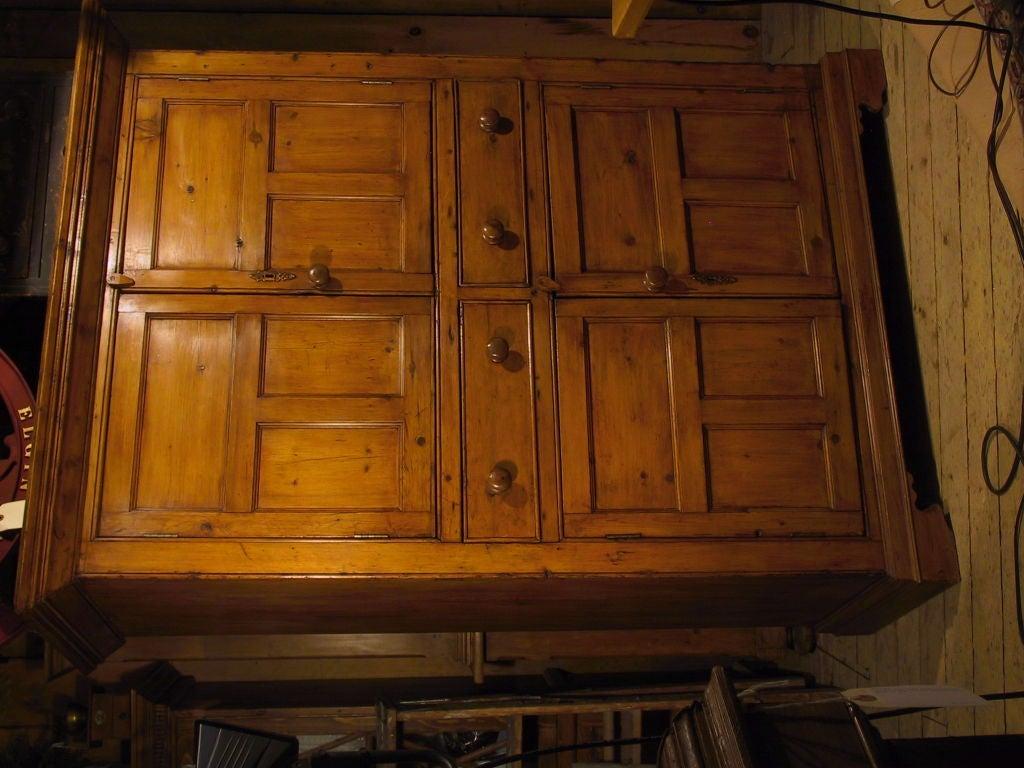 19th Century Antique Irish Pine Cupboard For Sale - Antique Irish Pine Cupboard At 1stdibs