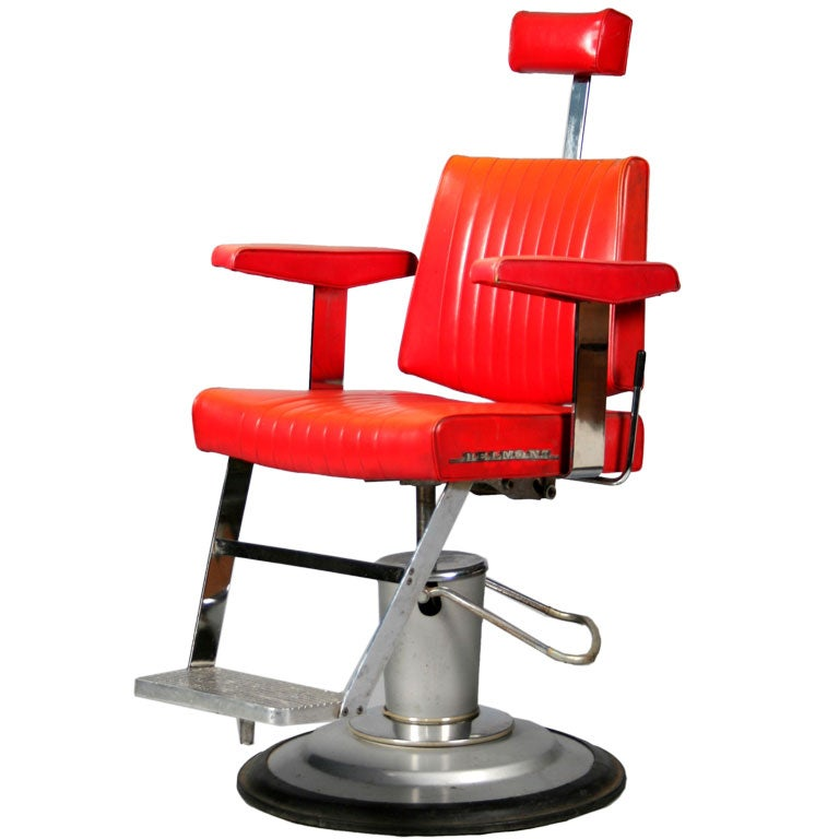 1950 s belmont barber s chair at 1stdibs