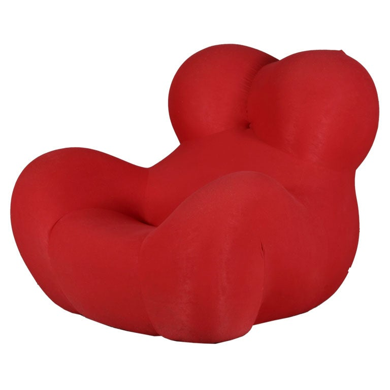 Chair & Foot Rest by Gaetano Pesce for C&B (B&B) Italia For Sale
