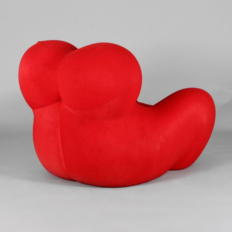 Italian Chair & Foot Rest by Gaetano Pesce for C&B (B&B) Italia For Sale
