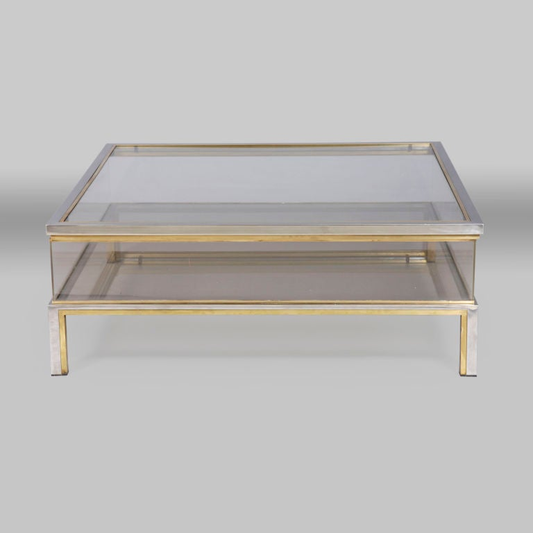 Centretable Display Case By Maison Jansen At 1stdibs