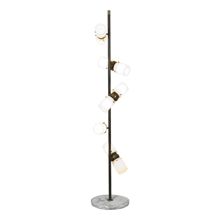 5 shade floor lamp with marble base by stilnovo at 1stdibs 5 shade floor lamp with marble base by stilnovo for sale aloadofball Choice Image