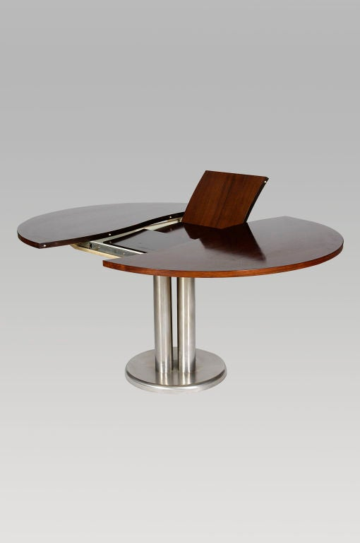 Rosewood And Steel Extending ESSE Dining Table For