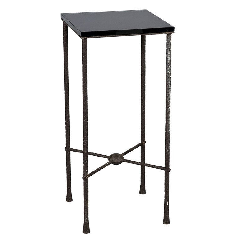 Bronze high pedestal table in giacometti style at 1stdibs for Table 52 art smith