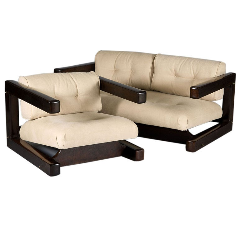 Two Seat Sofa And Matching Armchair At 1stdibs