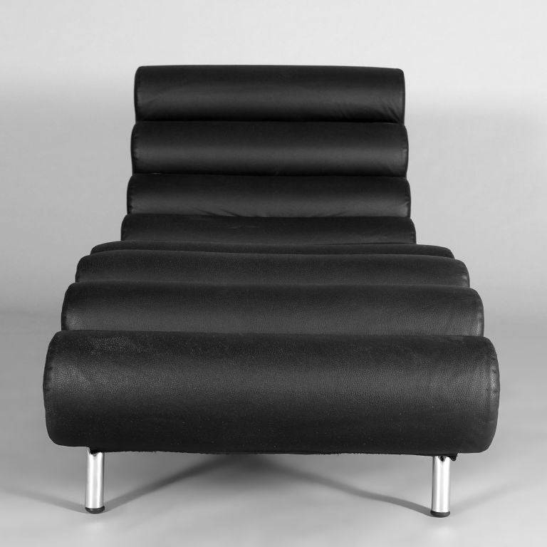 chaise longue by knoll at 1stdibs. Black Bedroom Furniture Sets. Home Design Ideas