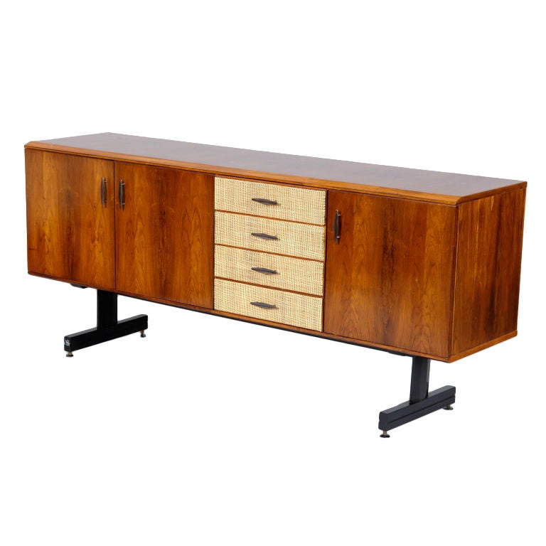 """1950s Three-Door Sideboard with """"Lattice"""" Drawers by CIMO"""