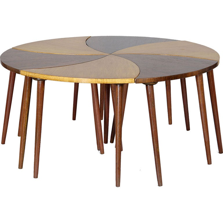 Six part `Pinwheel` Coffee Table by CIMO 1