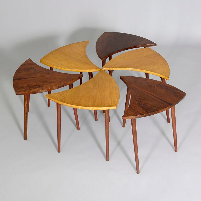 Six part `Pinwheel` Coffee Table by CIMO 2