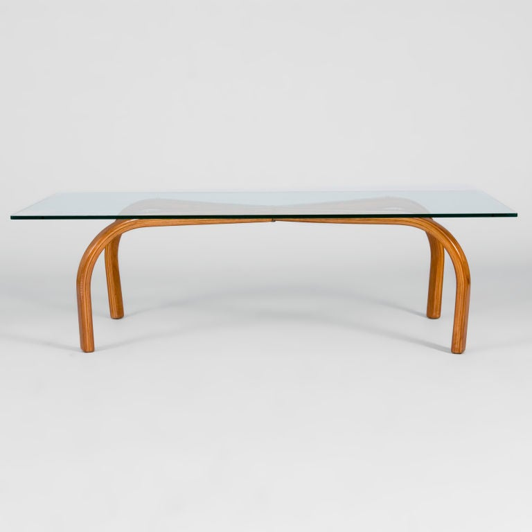 Caviuna Honey Wood Centre Table With Cross Beams. This Is The First Time We