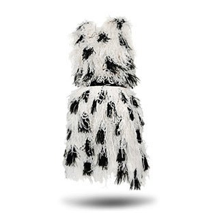 Bill Blass Marabou Feather Cocktail Dress, 1990s