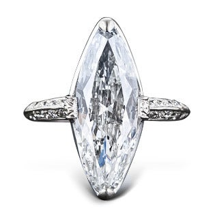 Cartier 3.98 Carat Marquise Diamond Ring, Early 20th Century