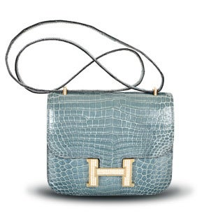 Hermès Diamond Porosus Crocodile Constance Bag