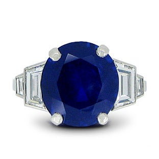 Art Deco Sapphire and Diamond Ring, ca. 1935
