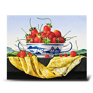 James Aponovich, Still Life with Strawberries in a Canton Bowl