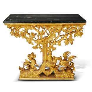 Painted and Giltwood Table, 18th Century