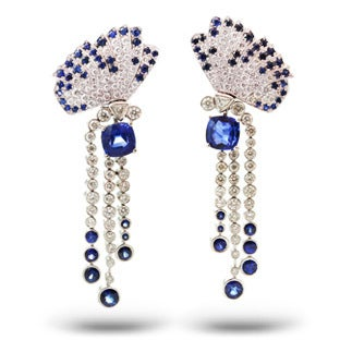 Van Cleef & Arpels Sapphire, Diamond and Platinum Earrings