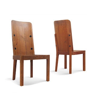 "Axel-Einar Hjorth ""Lovö"" Chairs, 1930s"
