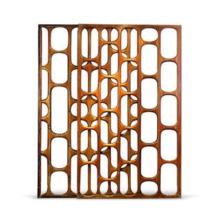 Eugenio Escudero Mahogany Screen, 1950s