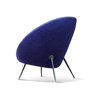 Ico Parisi Egg Chair Model 813 in Original Upholstery, ca. 1954