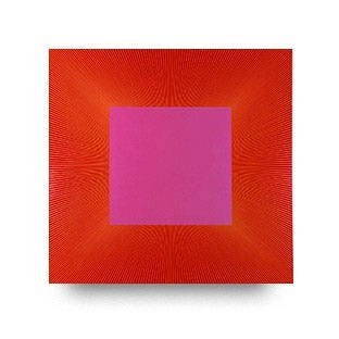 Richard Anuszkiewicz, Centered Square Red Pink 1055, 1977–2015