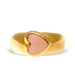 Van Cleef & Arpels Coral and Gold Ring, 1980s