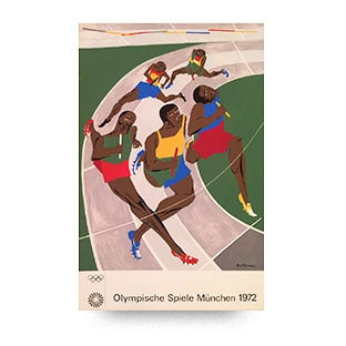 Jacob Lawrence Poster for Munich Olympics, 1972