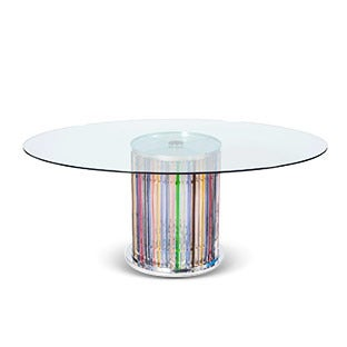 Murano Glass Illuminated Dining Table, 1980s