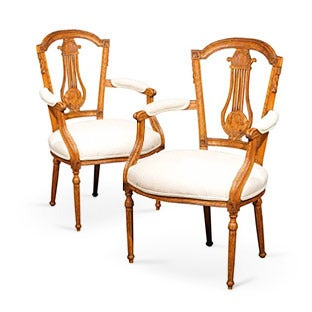 Neoclassical Armchairs, ca. 1790