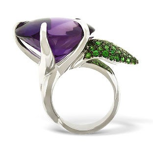 Chanel Amethyst and Tsavorite Ring, 2000s