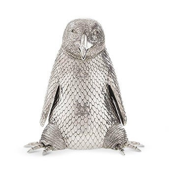 Sterling Silver Penguin Champagne Bottle Holder, 2016