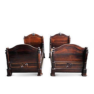 Victorian Twin Beds, ca. 1850