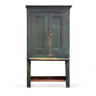 Painted Cupboard, Mid 19th Century