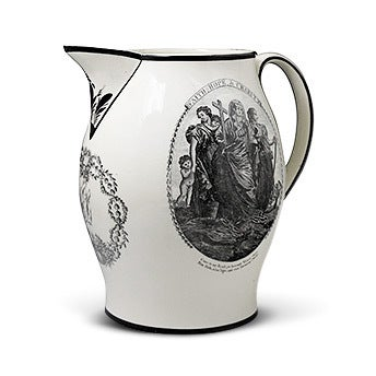 Large Creamware Pottery Pitcher, ca. 1800