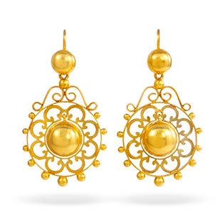 Victorian Gold Earrings, ca. 1860