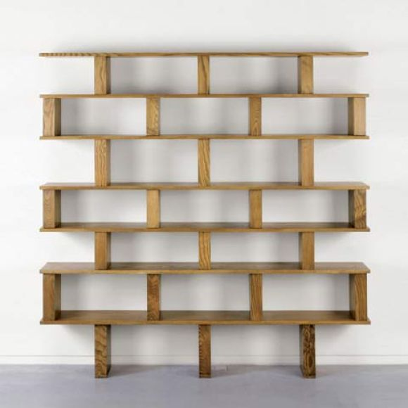 Large Bookcaseshelving Unit In The Style Of Charlotte Perriand At 1stdibs
